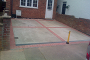 25 New concrete drive with Bradstone red border