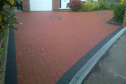 26 New driveway using red bradstone blocks with charcoal border