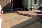 High quality sandstone paving